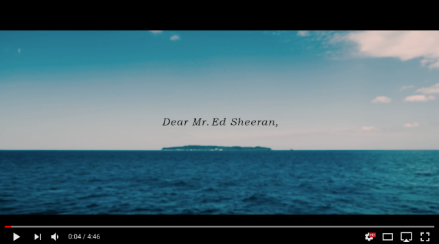 Ed Sheeran invited to visit cat island in Japan with video from Japanese town