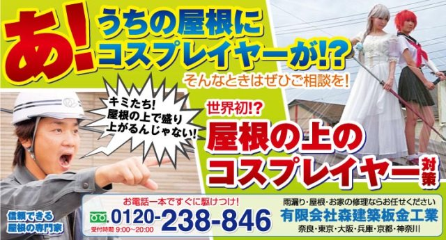 Japan has a consultation service for homeowners frustrated by cosplayers on their roofs