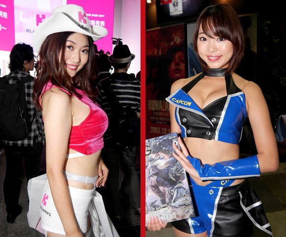 The lovely booth ladies of Tokyo Game Show 2017