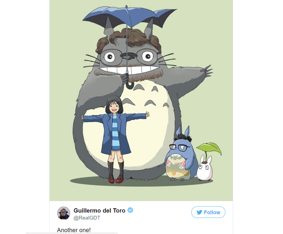Guillermo del Toro as Totoro: The amazing fan art concept that was right under our noses