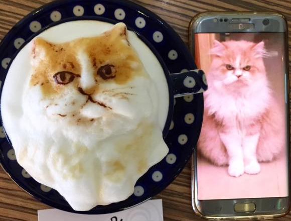 Taiwanese cafe fulfills customer requests with amazingly accurate 3-D custom latte art