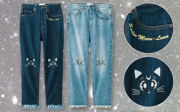 Luna jeans are just part of the stellar stylishness of new low-priced Sailor Moon fashion lineup