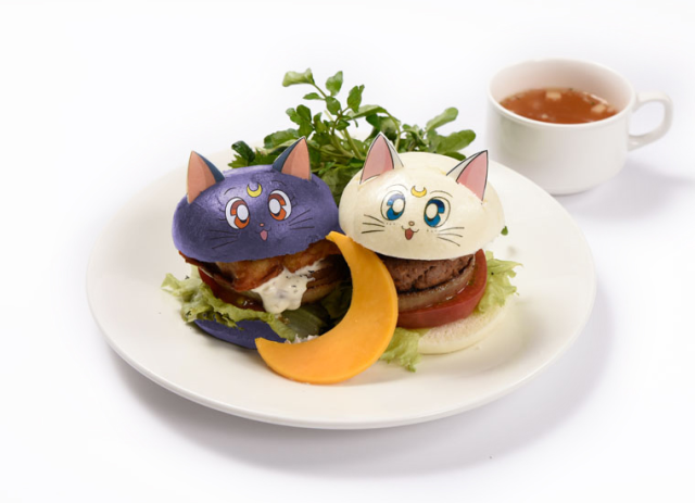 Sailor Moon Cafe 2017 opens this month in Tokyo, Osaka with Luna burgers, Tuxedo Mask black curry