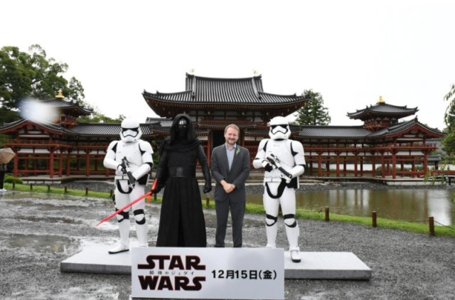 Star Wars director Rian Johnson prays for upcoming film's success at scenic Kyoto temple