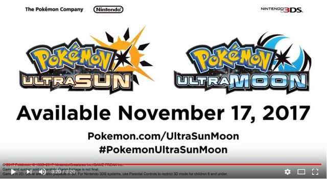 Pokémon Ultra Sun and Ultra Moon revealed to be the last Pokémon RPGs for the Nintendo 3DS