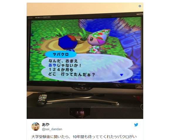 Fan shows Nintendo Animal Crossing characters will always remember you in heartwarming screen cap