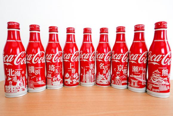 """Coca-Cola """"Slim Bottle"""" City Designs range showcases top tourist spots in Japan"""
