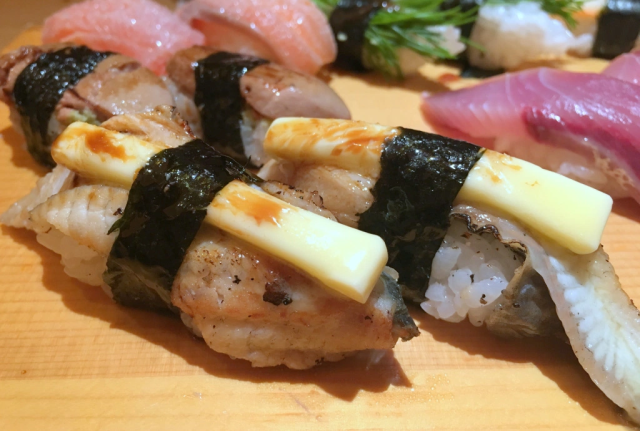 Butter on sushi? We'd heard it was great, but we wouldn't believe it without trying it ourselves