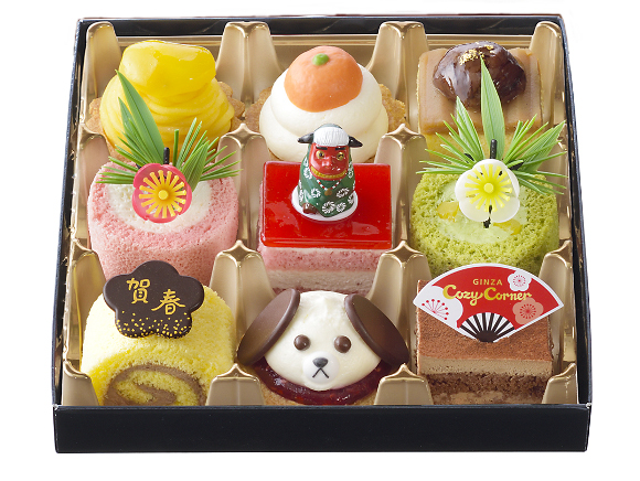 Ginza Cozy Corner unveils cute range of osechi New Year cakes featuring lucky Japanese symbols