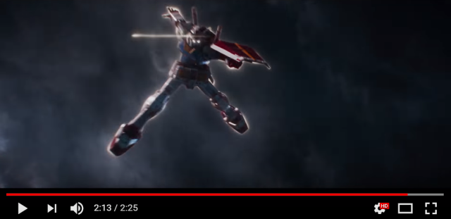 Anime mecha Gundam will appear in Steven Spielberg's Ready Player One【Video】