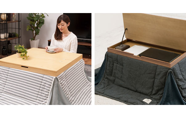 Kotatsu with storage space solves the biggest problem with Japan's awesome heated tables