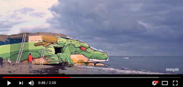 French artists transform World War II blockhouse into Dragon Ball's wish-granting dragon【Video】