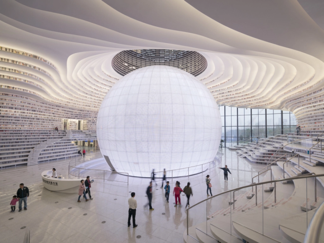 Amazing-looking library in Tianjin has us wanting to visit even if we can't read anything【Video】