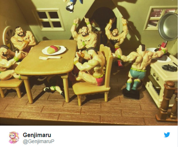 Japanese wife becomes Internet's favorite when she replaces dollhouse bunny with Zangiefs