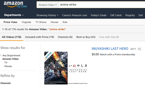 Amazon strikes down its Anime Strike video streaming service just before its first birthday