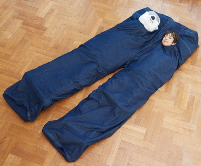 Japan's crazy new gigantic pants-style two-person sleeping bags keep you close to your loved one