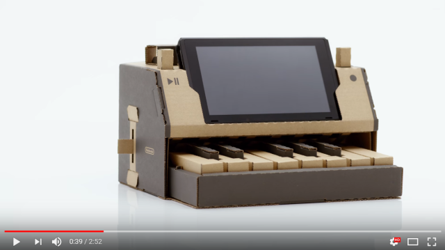 Nintendo Labo: Mad genius sets to build your own Switch controllers out of cardboard【Video】
