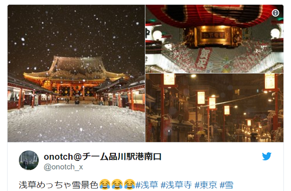 Tokyo's most famous landmarks are even more beautiful after heaviest snowfall in years【Photos】