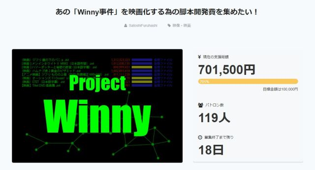 """Winny Incident"" movie wins huge crowdfunding support"