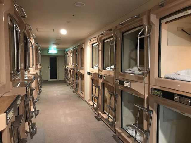 Capsule hotel in Osaka offers VR, 100,000 volumes of manga, saunas, possibly a capsule