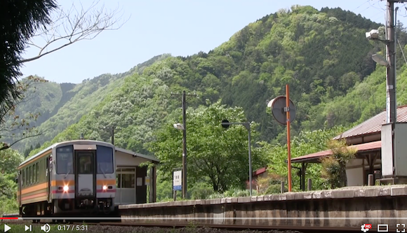 Japanese train station stirs up nostalgia with beautiful rural setting and one-carriage train