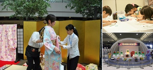 Narita Airport starts free cultural event series with kimono-wearing, manga creator experiences