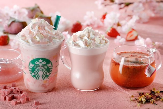 Starbucks sakura Frappuccino and hot drinks unveiled for 2018 cherry blossom season in Japan