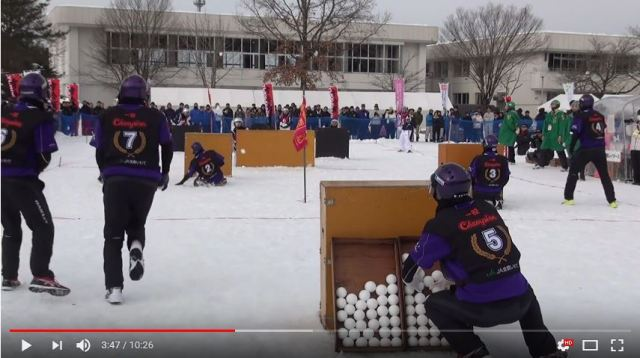 Japan Snow Battle Federation looking to make snowball fights Olympic event