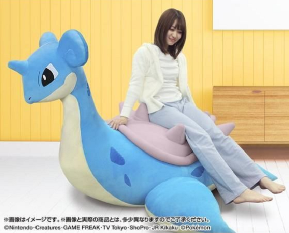 6.6-foot-wide rideable Lapras sofa: The plushie Pokémon furniture adult fans have been hoping for