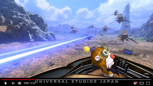 Final Fantasy Universal Studios Japan VR roller coaster shown off in cool rider experience videos