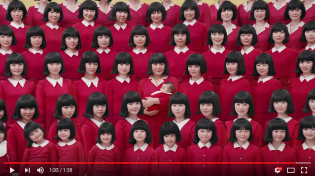 Amazing ad from Japan stars 72 actresses each showing one year of a woman's life in one second