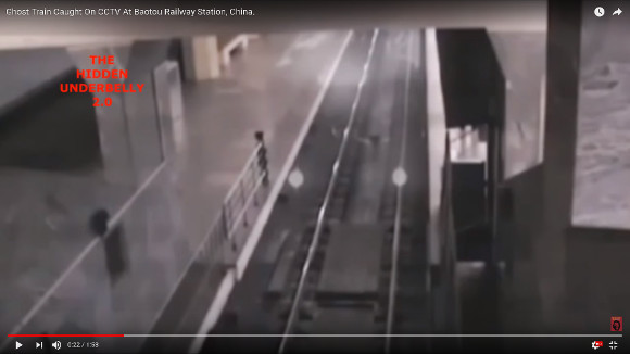 Creepy ghost train caught on security footage in Chinese train station gives us all chills【Video】
