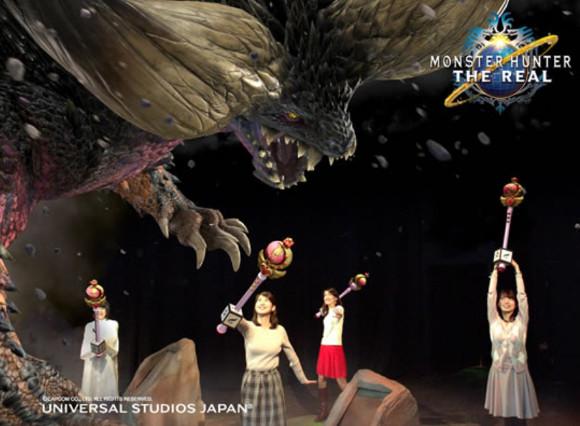 "Universal Studios Japan's Monster Hunter attraction lets you use a secret ""Sailor"" anime weapon"