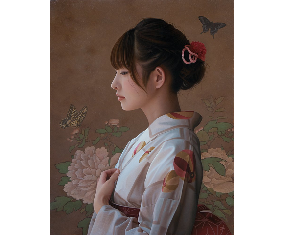 The gorgeous portraits of these Japanese women aren't photos or CG, so what are they?