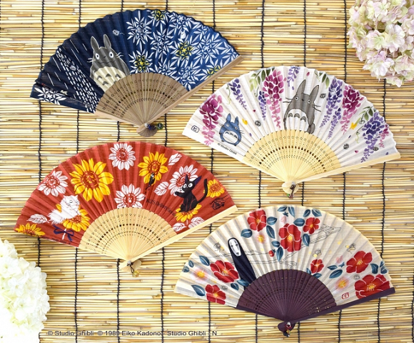 New illustrated Studio Ghibli folding fans: A beautiful way to deal with Japan's summertime heat
