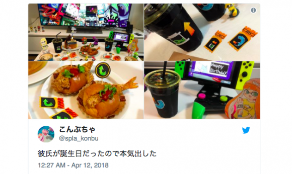 Girlfriend creates Splatoon-themed surprise meal for fanboy boyfriend that is too cute to eat