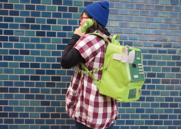 "Specially designed ""Japanese public telephone"" backpack has Twitter ringing with enthusiasm"
