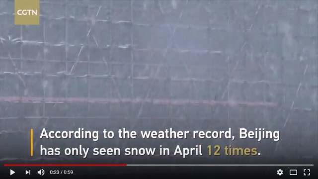 Rare April snowfall in China the first in 30 years, causes havoc on the Great Wall【Video】