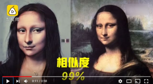 Chinese artist transforms herself into 2-D masterpieces with only the use of makeup【Video】
