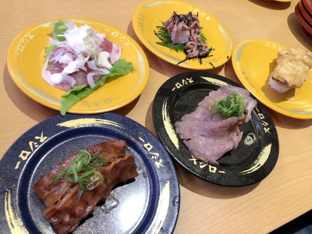 Shun seafood sushi with new meat sushi lineup at Japan's favorite kaitenzushi chain