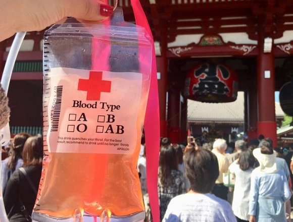 Japanese festival serves up juice in I.V. bags to keep you hydrated and healthy【Pics】