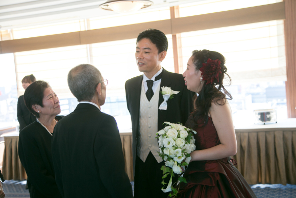 Japanese newlyweds can order a special wedding service that won't leave a dry eye in the house