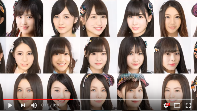 These dozens of beautiful Japanese idol singers aren't just CG, they were created by AI【Video】