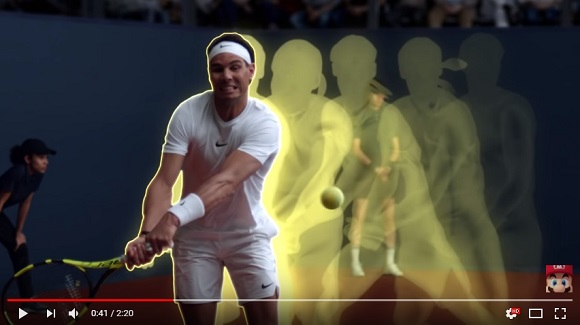 Cool trailer for Mario Tennis Aces pits Mario against world champion Rafael Nadal【Video】