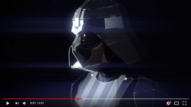 Awesome cardboard Darth Vader costume lets you become an eco-friendly Jedi villain【Video】
