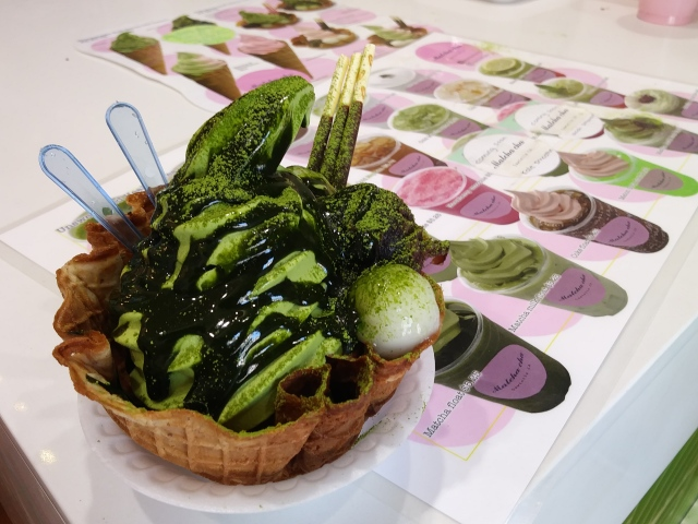 The Deep Matcha Matcha of Matcha-Cha, an awesome green tea sweets cafe in an unexpected place