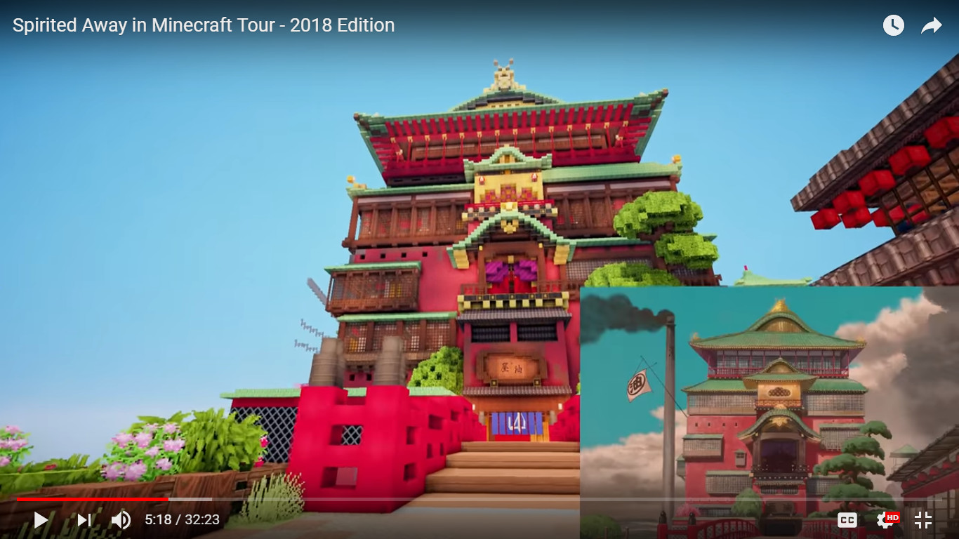 Minecraft Builders Create An Amazingly Detailed World Of Spirited Away Give Us A Video Tour Soranews24 Japan News