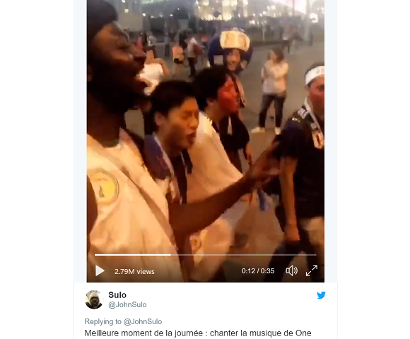 Anime at the World Cup — Fans bond after Japan-Senegal match by singing One Piece theme【Video】