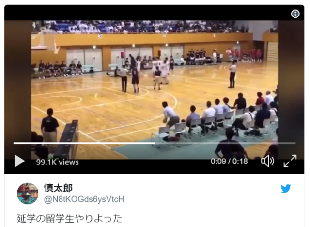 Foreign exchange student punches Japanese basketball referee, victim won't press charges【Video】