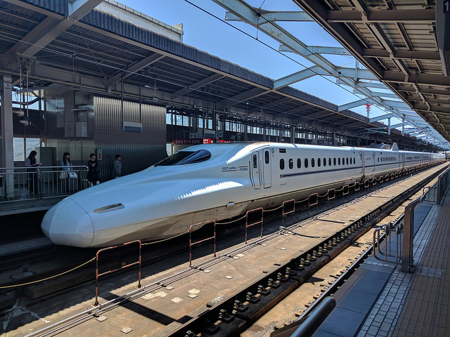 Human body parts found in crack on bonnet of Shinkansen bullet train